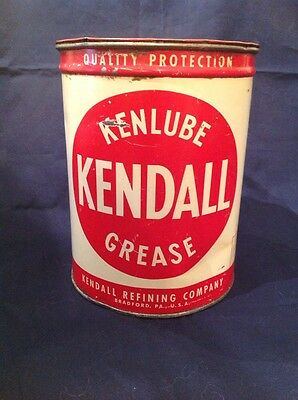 Vintage Kendall 5Lb Grease Can Empty Metal