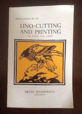Vintage Dryad Leaflet No. 106 Lino-Writing and Printing on Paper and Fabric