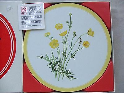 Set 6 Unused Pimpernel Placemats 50th Anniversary 1933-1983 Signed Lys de Bray