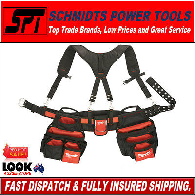 Milwaukee 48-22-8120 Tool Belt 24 Pocket Work Belt With Suspension Rig Brand New