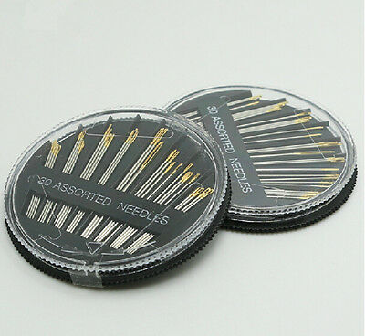 30PCS Assorted Hand Sewing Needles Embroidery Mending Craft Quilt Sew Wheel