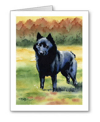 SCHIPPERKE Set of 10 Note Cards With Envelopes