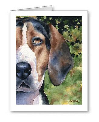 TREEING WALKER COONHOUND Set of 10 Note Cards With Envelopes