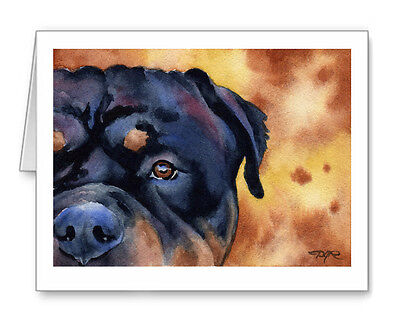 ROTTWEILER Set of 10 Note Cards With Envelopes