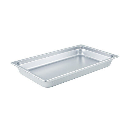 Winco SPJL-102, 2.5-Inch Deep Full-Size Anti-Jamming Steam Table Pan, 25 Gauge,