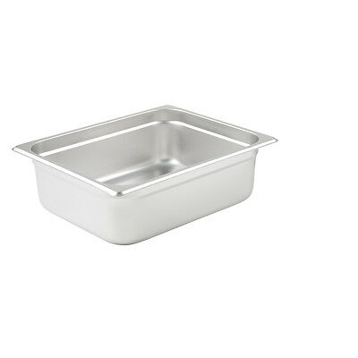 Winco SPJL-204, 4-Inch Deep, Half-Size Anti-Jamming Steam Table Pan, 25 Gauge, N