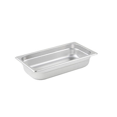 Winco SPJL-302, 2.5-Inch Deep, One-Third Size Anti-Jamming Steam Table Pan, 25 G