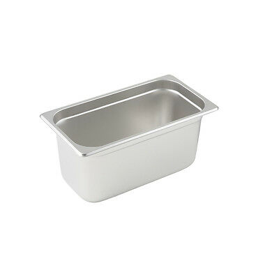 Winco SPJL-306, 6-Inch Deep, One-Third Size Anti-Jamming Steam Table Pan, 25 Gau