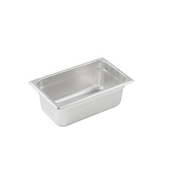 Winco SPJL-404, 4-Inch Deep, Quarter-Size Anti-Jamming Steam Table Pan, 25 Gauge