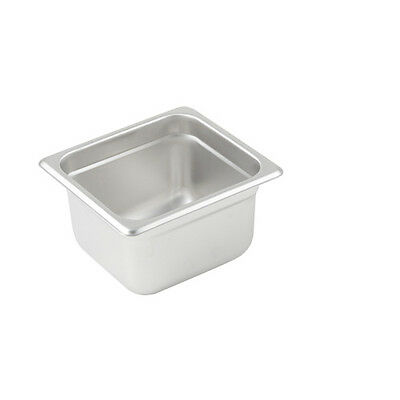 Winco SPJL-604, 4-Inch Deep, One-Sixth Size Anti-Jamming Steam Table Pan, 25 Gau
