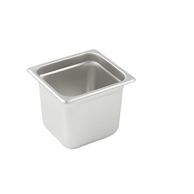 Winco SPJL-606, 6-Inch Deep, One-Sixth Size Anti-Jamming Steam Table Pan, 25 Gau