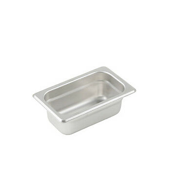 Winco SPJL-902, 2.5-Inch Deep, One-Ninth Size Anti-Jamming Steam Table Pan, 25 G