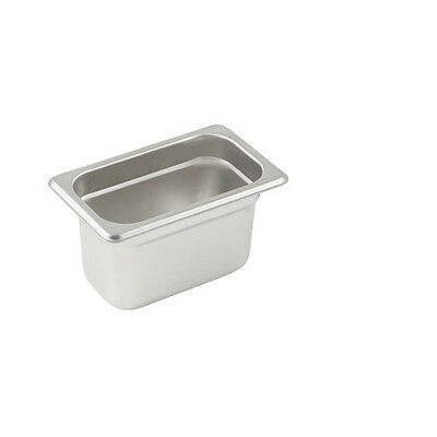 Winco SPJL-904, 4-Inch Deep, One-Ninth Size Anti-Jamming Steam Table Pan, 25 Gau