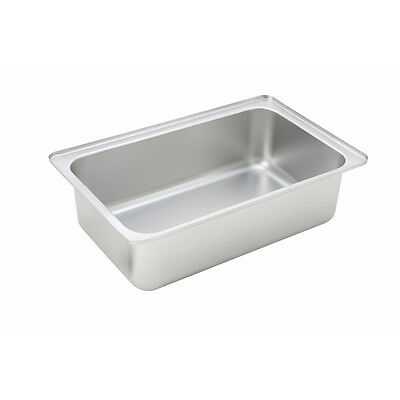 Winco C-WPF6, 6-Inch Deep Full-Size Stainless Steel Water Pan