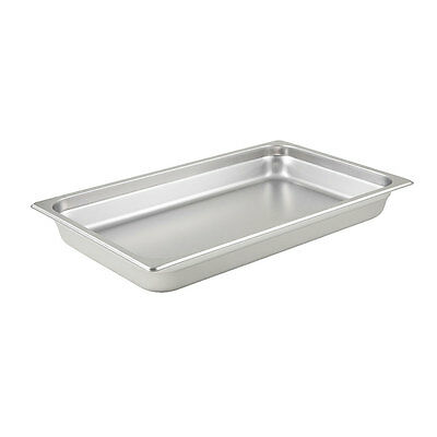 Winco SPJM-102, 2.5-Inch Deep Full Size Steam Table Pan, Stainless Steel, NSF