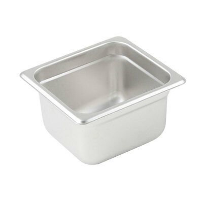 Winco SPJM-604, 4-Inch Deep One-Sixth Size Anti-Jamming Steam Table Pan