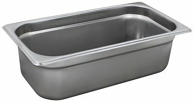 Winco SPJP-304, 4-Inch Deep One-Third Size Anti-Jamming Steam Table Pan, NSF