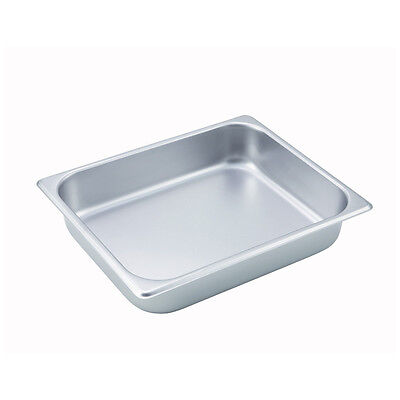 Winco SPH2, 2.5-Inch Deep Half Size Steam Table Pan, NSF
