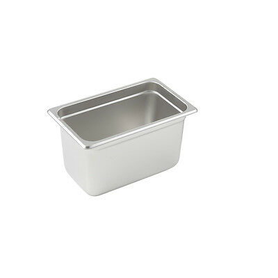 Winco SPJL-406, 6-Inch Deep Quarter Size Anti-Jamming Steam Table Pan, NSF
