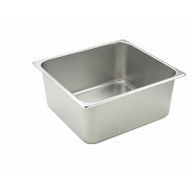 Winco SPTT6, 6-Inch Deep Two-Third Size Steam Table Pan, NSF