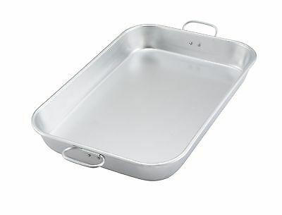 Winco ALBP-1218, Aluminum Bake and Roasting Pan with Drop Handle