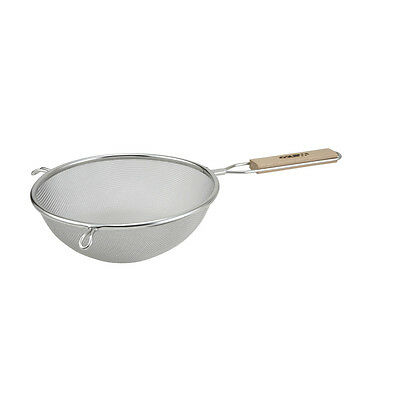 Winco MS3A-8S, 8-Inch Fine Mesh Strainer with Wooden Handle