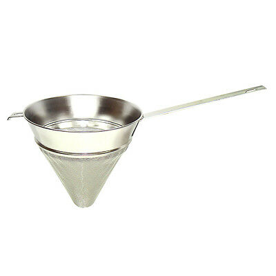 Winco CCBH-08, 8.5-Inch Extra Fine Mesh Bullion Strainer, Stainless Steel