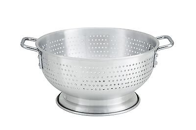 Winco ALO-11BH, 11-Quart Aluminum Colander with Base and Handles