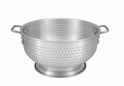 Winco ALO-16BH, 16-Quart Aluminum Colander with Base and Handles