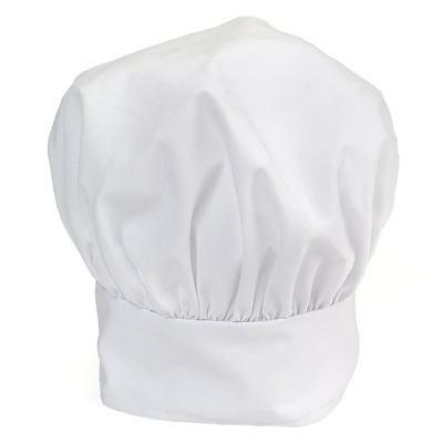 Winco CH-13WH, White Chef Hat