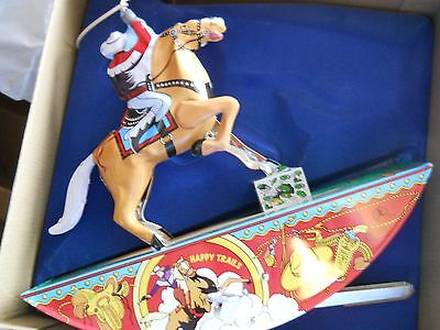 ROY ROGERS & TRIGGER Vintage Reproduction WIND-UP TIN TOY NIB w COA