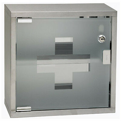 Winco SFAC-12, 12x12x4.75-Inch First Aid Cabinet, Stainless Steel