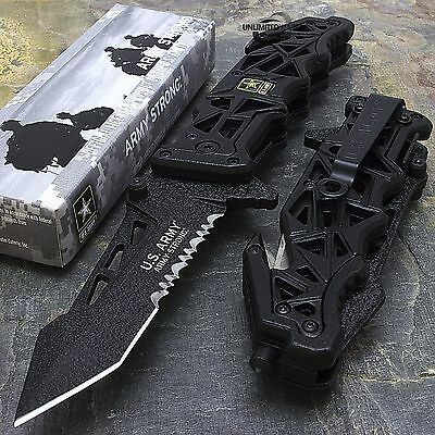 """9"""" US ARMY """"LIBERATOR"""" LICENSED TACTICAL SPRING ASSISTED FOLDING KNIFE Blade"""