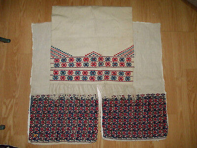 3 ottoman turkish handwoven embroidery parts