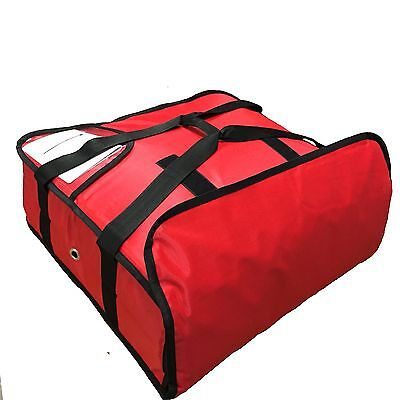 "PIZZA DELIVERY BAGS (20"" X 20"" X 7"") Full Insulated all sides Red SJ011"