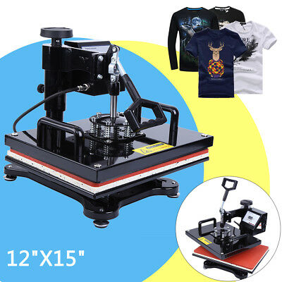 "Digital Transfer Sublimation T-shirt Heat Press Machine 15"" x 12"" Swing Away"