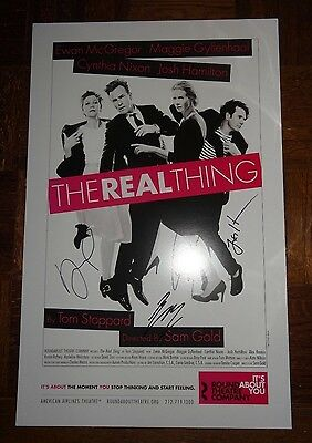 Ewan McGregor The Real Thing Signed Window Card Poster Broadway Rare Theatre