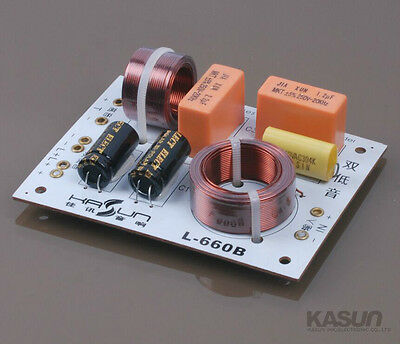 2pcs KASUN L-660C Double Bass Hi-Fi Speaker Frequency Divider Crossover Filters