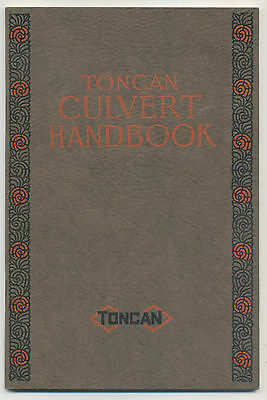 Toncan Culvert Handbook - 1930 book about drainage & pipes