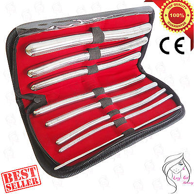 New HEGAR-DILATOR SET Uterine Urethral-Diagnostic Surgical Sounds 8PCS + CASE CE