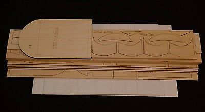 """Giant 1/4 Scale DH.2 Airco laser cut Short Kit, Plans & Instruction 80""""wing span"""