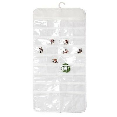 72 Pocket Jewelry Hanging Storage Organizer Holder Earring Bag Pouch Display 6L