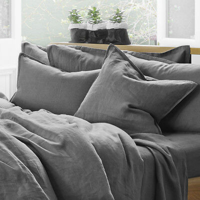 Pure Linen Pillowcase Set In Storm