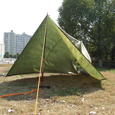 Large Waterproof Military Camping Tarp Awning Trail Tent Shelter Rain Cover