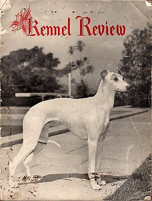 Vintage Western Kennel World Dog Magazine December 1955 Whippet Cover