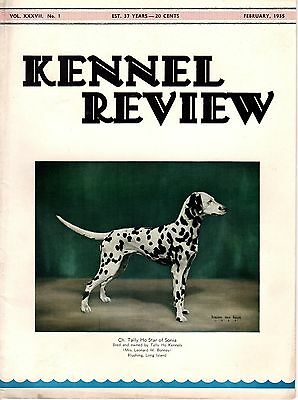 Vintage Kennel Review Dog Magazine February 1935 Dalmatian Cover