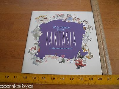 1977 Walt Disney's Fantasia Movie program book NICE!