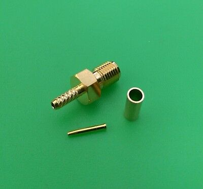 (1 SET) SMA Female crimp for RG174/U RG179 RG188 RG316 Connector - USA Seller