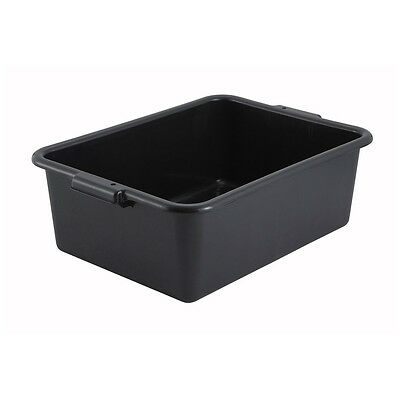 Winco PL-7K, 20.25x15x7-Inch Dish Box, Black