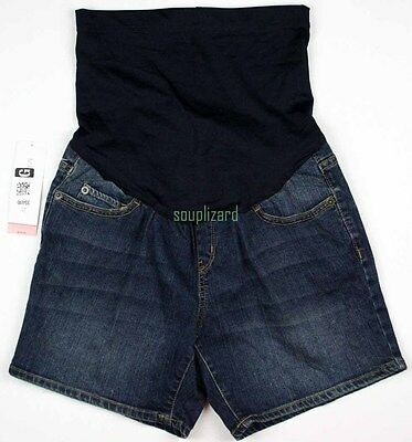 NEW Maternity Shorts Jean Denim Women's Liz Lange NWT Size Sz 299945 Summer